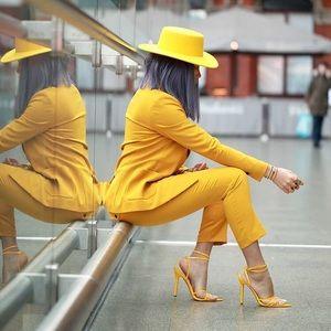 Mustard Yellow Fedora
